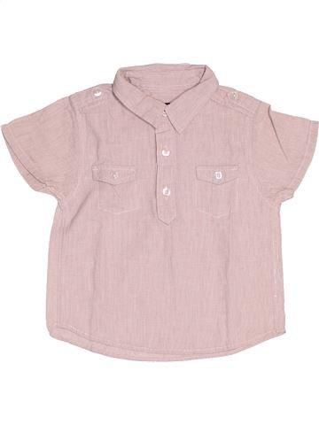 Chemise manches courtes garçon KIABI rose 12 mois été #1538495_1