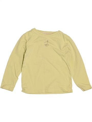 T-shirt manches longues fille OKAIDI beige 2 ans hiver #1538623_1