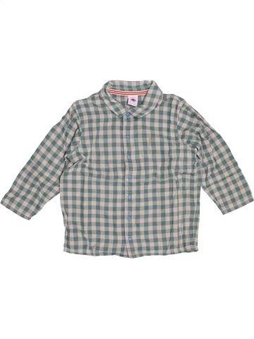 Chemise manches longues garçon PETIT BATEAU gris 3 ans hiver #1538718_1