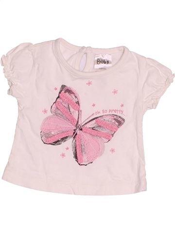 T-shirt manches courtes fille BABY rose 6 mois été #1539118_1