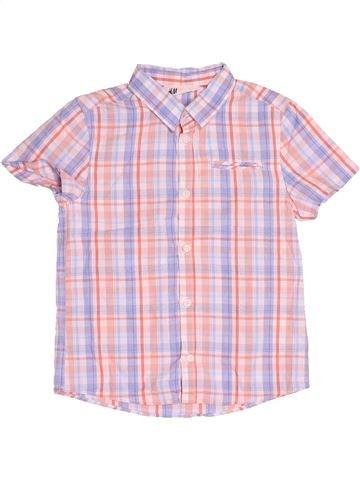 Chemise manches courtes garçon H&M rose 8 ans été #1539252_1