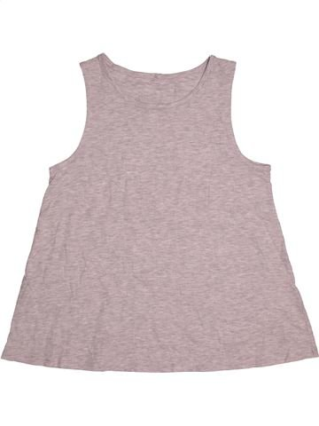 T-shirt sans manches fille GEORGE gris 13 ans été #1539506_1