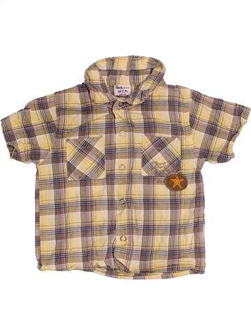 Chemise manches courtes garçon LITTLE BOY STAR beige 12 mois été #1539536_1