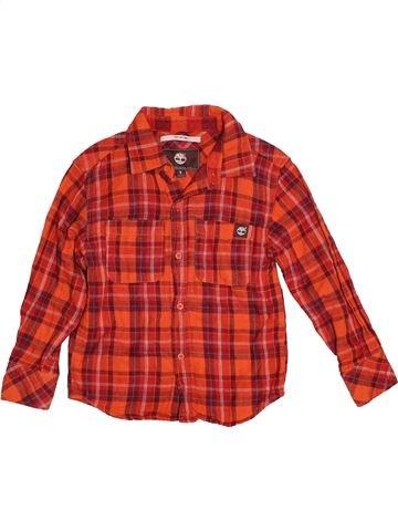 Chemise manches longues garçon SANS MARQUE rouge 5 ans hiver #1539968_1