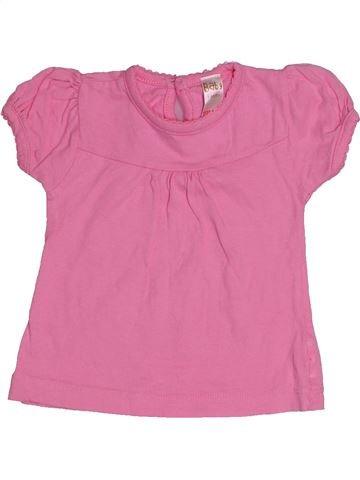 T-shirt manches courtes fille BABY rose 6 mois été #1540060_1