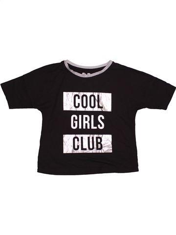 T-shirt manches courtes fille F&F noir 10 ans été #1540423_1