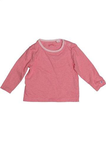 T-shirt manches longues fille JASPER CONRAN rose 12 mois hiver #1540439_1