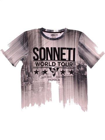 T-shirt manches courtes garçon SONNETI violet 15 ans été #1540476_1