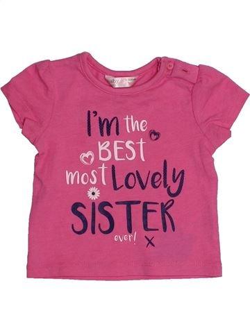 Camiseta de manga corta niña M&CO rosa 6 meses verano #1540481_1