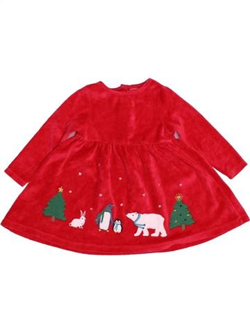 Robe fille JOHN LEWIS rouge 9 mois hiver #1541026_1