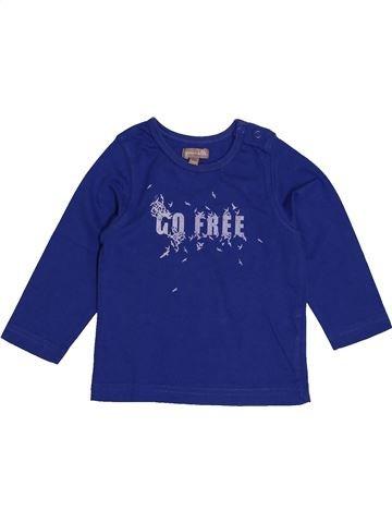 T-shirt manches longues garçon GRAIN DE BLÉ bleu 12 mois hiver #1541108_1