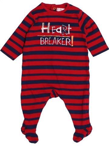 Pyjama 1 pièce garçon MAMAS & PAPAS rouge naissance été #1541110_1