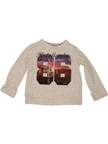 Camiseta de manga larga niño F&F beige 9 meses invierno #1541168_1