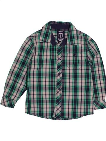 Chemise manches longues garçon OKAIDI vert 4 ans hiver #1541511_1