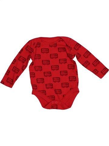 T-shirt manches longues garçon F&F rouge 6 mois hiver #1541938_1
