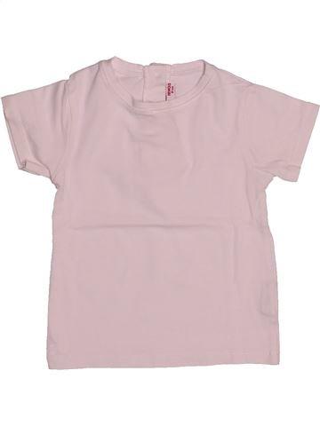 T-shirt manches courtes unisexe DPAM rose 18 mois été #1542547_1
