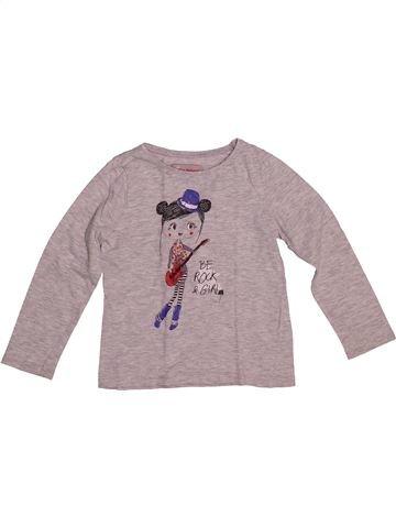 T-shirt manches longues fille LISA ROSE violet 4 ans hiver #1542560_1