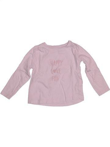 Camiseta de manga larga niña VERTBAUDET rosa 3 años invierno #1542590_1