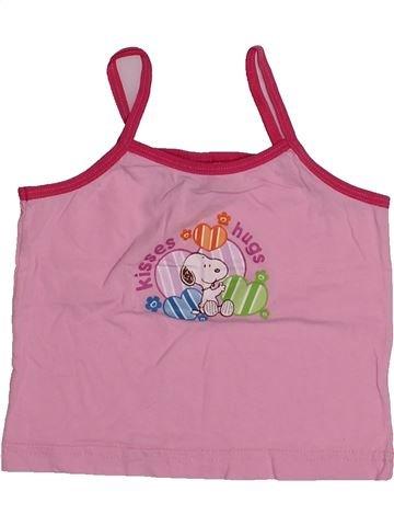T-shirt sans manches fille SNOOPY rose 4 ans été #1542717_1