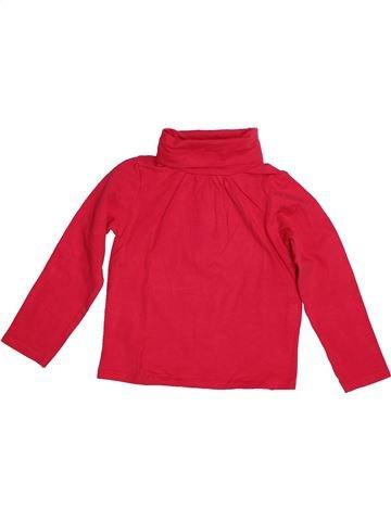 T-shirt col roulé fille TAPE À L'OEIL rouge 4 ans hiver #1542724_1