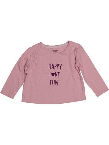Camiseta de manga larga niña VERTBAUDET rosa 2 años invierno #1542791_1
