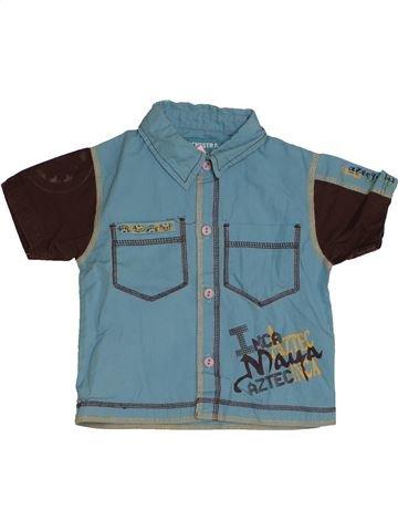 Chemise manches courtes garçon ORCHESTRA bleu 12 mois été #1542836_1