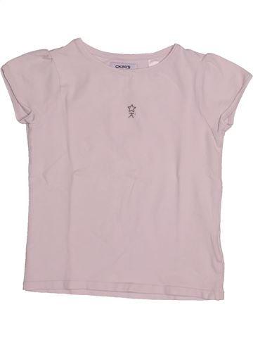 T-shirt manches courtes fille OKAIDI rose 6 ans été #1542850_1