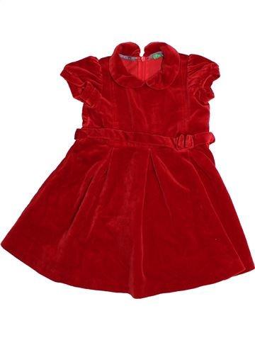 Vestido niña BENETTON marrón 18 meses invierno #1542949_1