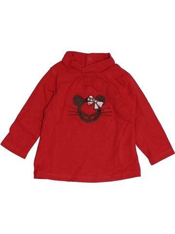 T-shirt col roulé fille OKAIDI rouge 6 mois hiver #1542965_1