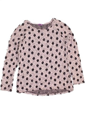 Pull fille F&F rose 14 ans hiver #1543009_1