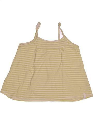 Camiseta sin mangas niña OKAIDI beige 8 años verano #1543137_1