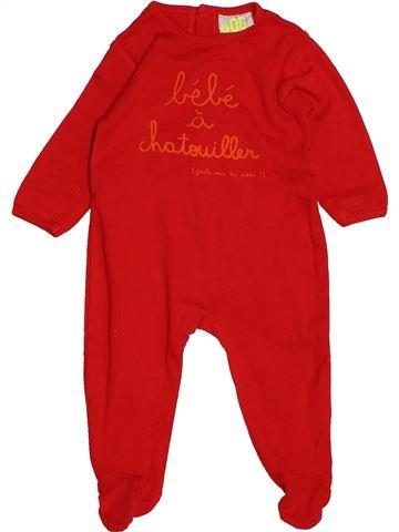Pyjama 1 pièce garçon DPAM rouge 6 mois été #1543177_1