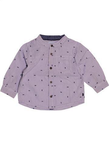 Camisa de manga larga niño OKAIDI violeta 12 meses invierno #1543180_1