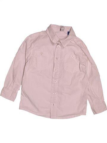 Chemise manches longues garçon OKAIDI rose 3 ans hiver #1543319_1