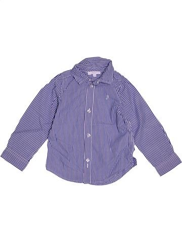 Chemise manches longues garçon JACADI bleu 3 ans hiver #1543515_1