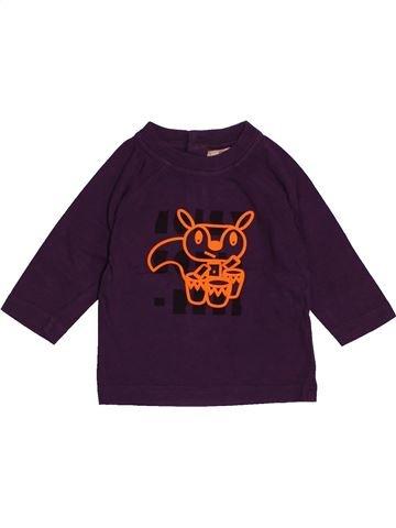 T-shirt manches longues garçon DPAM violet 6 mois hiver #1543527_1