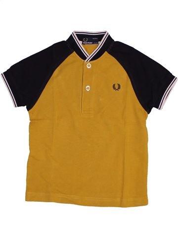 T-shirt manches courtes garçon FRED PERRY marron 3 ans été #1543791_1