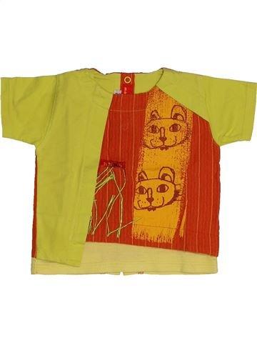 T-shirt manches courtes garçon MARÈSE jaune 3 mois été #1543987_1