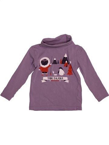 Camiseta de manga larga niño VERTBAUDET violeta 3 años invierno #1544143_1