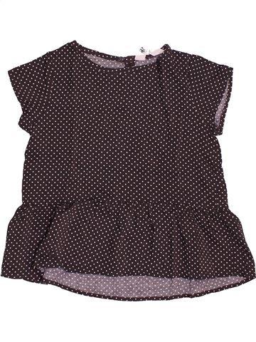 T-shirt manches courtes fille H&M beige 7 ans été #1544167_1