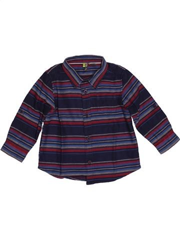Chemise manches longues garçon ORCHESTRA bleu 9 mois hiver #1544628_1