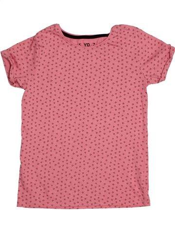 T-shirt manches courtes fille YOUNG DIMENSION rose 10 ans été #1545343_1