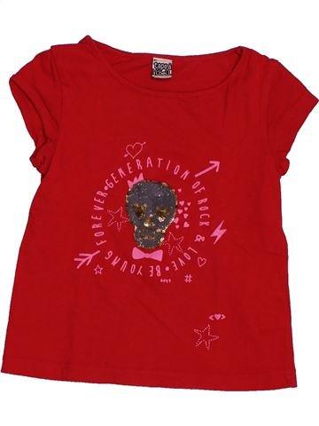 T-shirt manches courtes fille TAPE À L'OEIL rouge 4 ans été #1546593_1