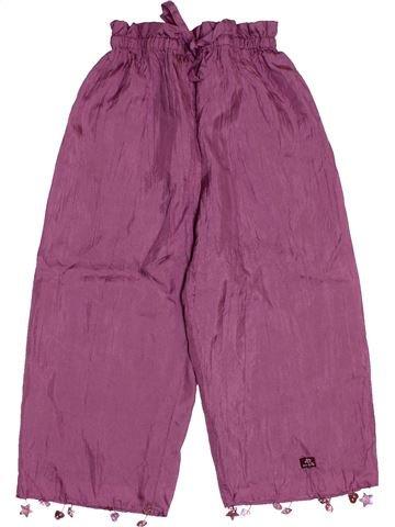 Pantalon fille LILI GAUFRETTE violet 3 ans été #1546640_1