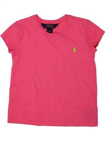 T-shirt manches courtes fille RALPH LAUREN rose 6 ans été #1547128_1