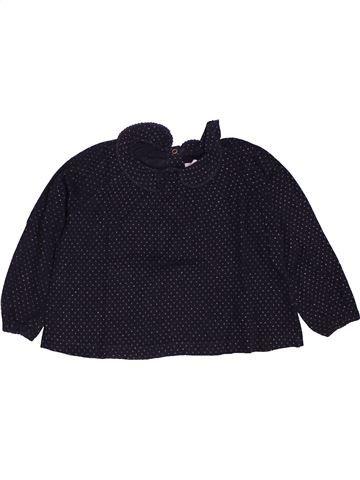 T-shirt manches longues fille PETIT BATEAU noir 2 ans hiver #1547440_1