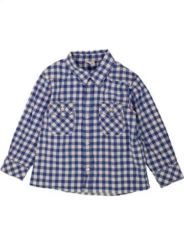 Chemise manches longues garçon PETIT BATEAU gris 3 ans hiver #1547685_1