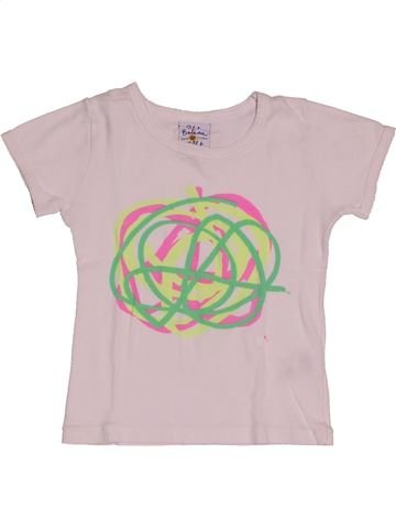 T-shirt manches courtes fille PETIT BATEAU rose 4 ans été #1548261_1