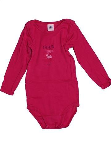 T-shirt manches longues fille PETIT BATEAU rouge 2 ans hiver #1548707_1