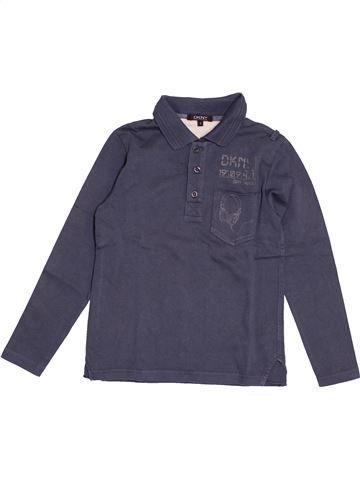Polo manches longues garçon DKNY bleu 8 ans hiver #1549018_1